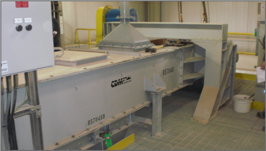 CDM Drag Chain Conveyor Installed in Plant