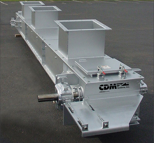 CDM Systems En-Masse Conveyor with multiple inlets.