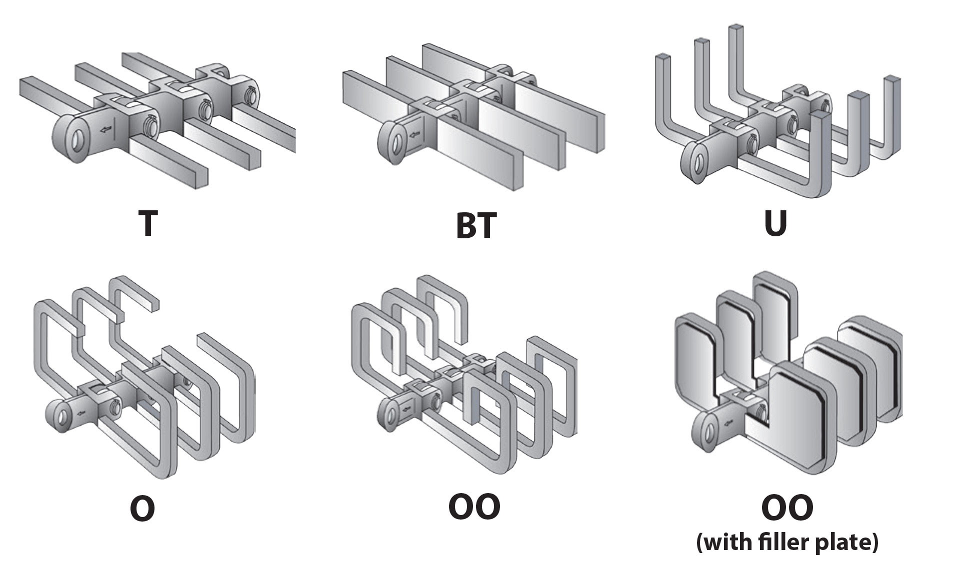 Drop-forged chain flight configurations for En-Masse Drag Chain Conveyor