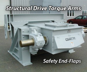 CDM Systems Conveyor Structural Torque Arms and Safety End-Flaps