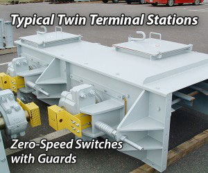 CDM Systems Conveyor Typical Twin Terminal Stations and Zero-Speed Switches with Guards